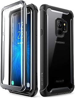 i-Blason Fodral för Samsung Galaxy S9 [Ares] smal fullkropp skyddande skal genomskinligt med inbyggt skärmskydd Bumper cas...