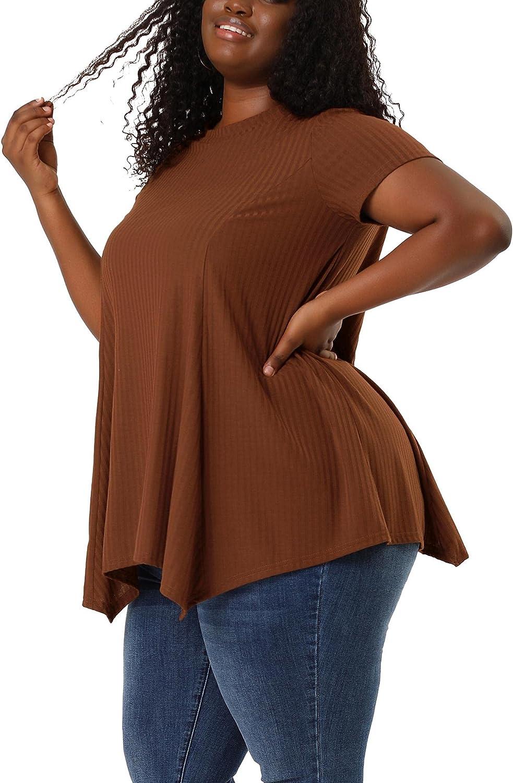 Agnes Orinda Women's Plus Size Lowest price challenge Top Irregula Sleeve T Shirt Short Regular discount