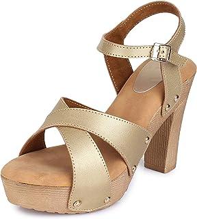 TRASE Judy Pumps Heel Sandal for Women Girls - 4 Inch Heel