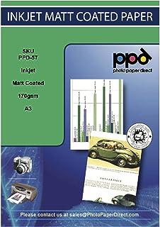 PPD Papel fotográfico con acabado mate para impresión de inyección de tinta A3 170 g/m² X 100 hojas PPD-57-100