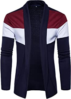 PAUSE Men's Solid Cotton Long Sleeve Round Neck Shrug