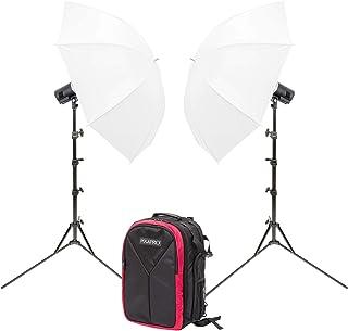 CITI300 Pro Doble Paraguas Kit con Mochila Batería Accionado Flash Estroboscópica Fotografía Iluminación Montar Godox AD30...