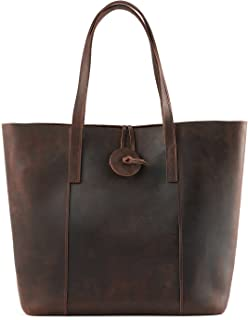 Women's Vintage Cow Leather Tote Shopper Shoulder Bag