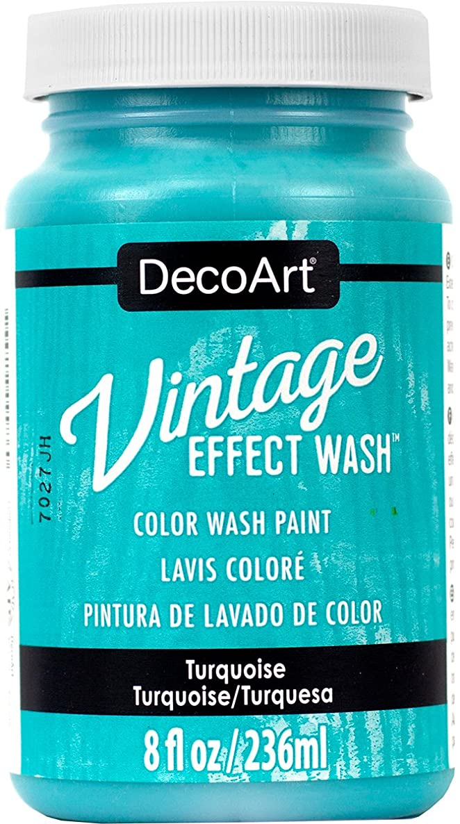 DecoArt Vintage Effect Wash 8oz Turquoise