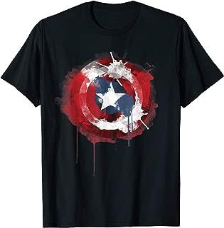 Captain America Avengers Shield Watercolor T-Shirt