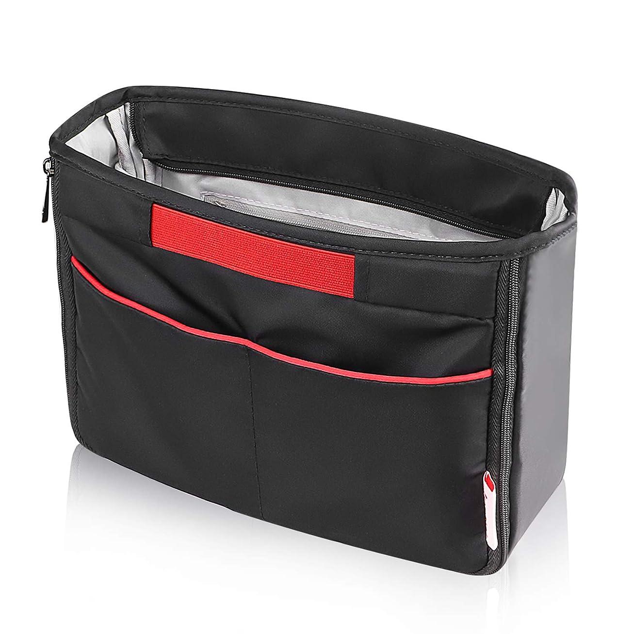 泥沼説教鷲JESWO バッグインバッグ 軽量 インナーバッグ レディース、メンズ バッグの中を整理整頓 バックインバック 出勤 ツールペンスタンド A4 整理 仕切り 黒