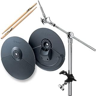 Roland CY-5 Dual-Trigger Cymbal Pad w/ MDY-12 Hatched Mount & Zildjian Trigger Wood Anti-Vibe Drumsticks - Bundle