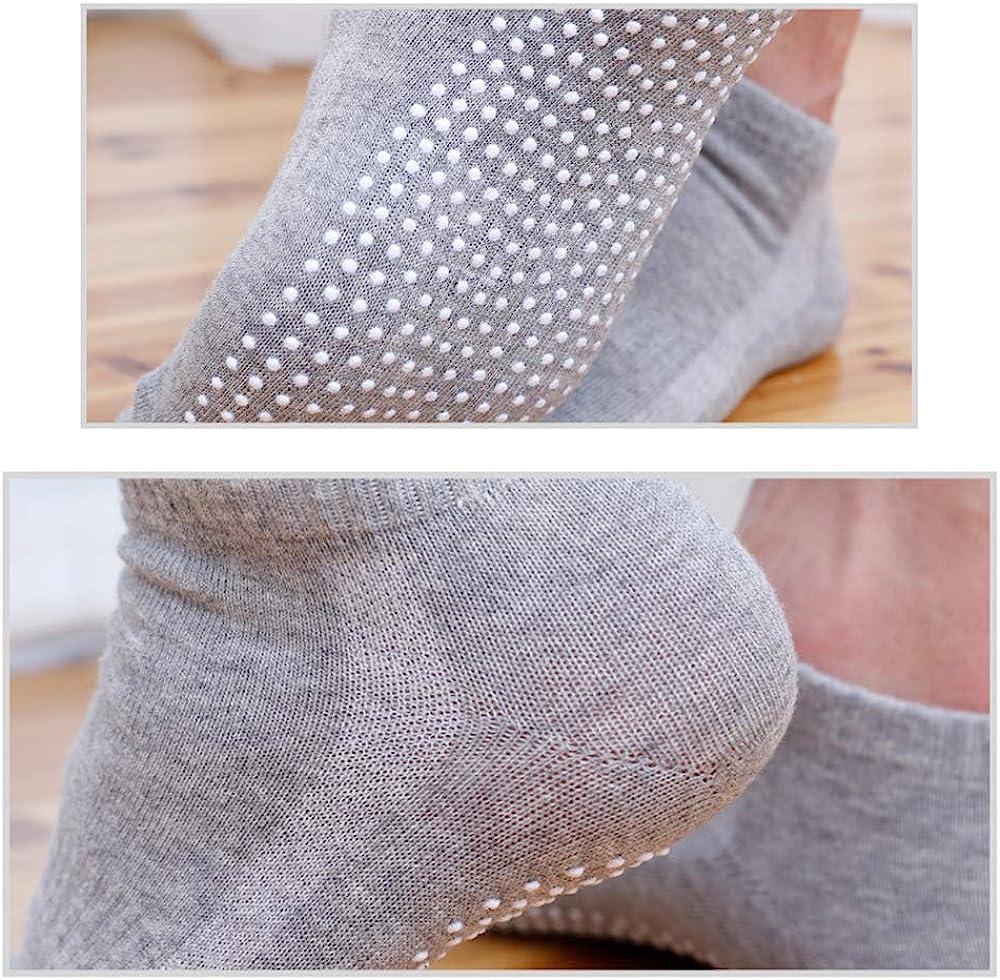 4 Pairs Sports Socks Ideal For Sports Fitness Dance Ballet Barre SONSYON Mens Cotton Yoga Socks