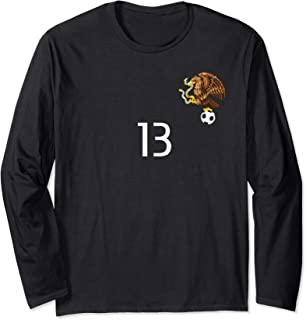 Mexico Number 13 Training Long Sleeve Front And Back Design