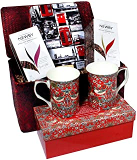 Luxury English London Gift Hamper with English Tea Gift Basket Treats - Ships the Same Business Day, Order by 1:00 PM Pacific Time