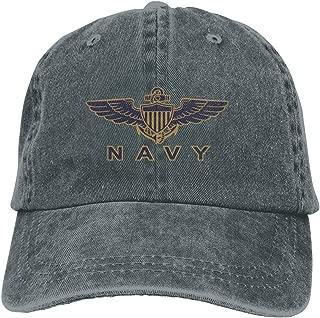 United States Naval Aviator Dad Hat Denim Baseball Cap Adjustable Polo Trucker Unisex Style Headwear