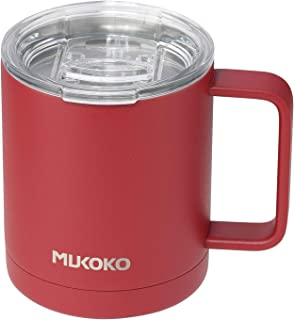 Insulated Coffee Mug 20 oz Stainless Steel Vacuum Insulated Mug With Lid and Handle (18oz After Lid is Closed) Red
