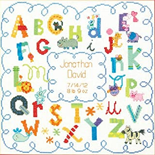 "Dimensions Alphabet Birth Record Counted Cross Stitch Kit, 12"" x 12"""