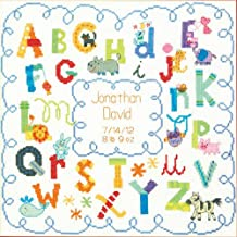 "Dimensions Alphabet Birth Record Counted Cross Stitch Kit, 12"" x 12"""