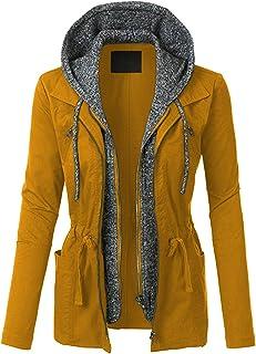13f8cd68e8191 Amazon.com: Yellows - Anoraks / Trench, Rain & Anoraks: Clothing ...