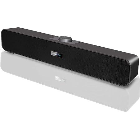 Computer Speakers,Wired USB Desktop Speaker,Stereo USB Powered Desktop Sound Bar Laptop Speaker for PC Tablets Desktop Cellphone Laptop MP3(2021 Version)