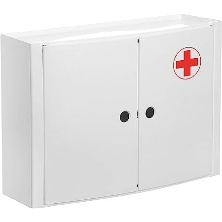 TATAY 4480209 Armoire Horizontale 2 Portes A Pharmacie, Plastique, Blanc, 46 x 15,5 x 32 cm