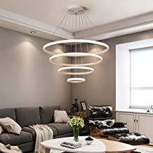 Modern Acrylic LED Chandelier Dimmable Hanging Pendant Lamp for Living Room Bedroom Dining Room Ceiling Lighting Fixture, ...