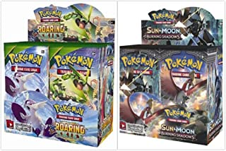 Pokemon Roaring Skies Booster Box and Sun & Moon Burning Shadows Booster Box Bundle, 1 of Each