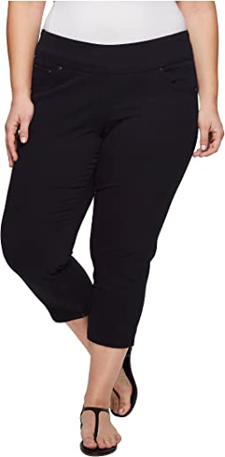 Jag Jeans Plus Size Plus Size Peri Straight Pull-On Twill Crop