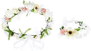 [THEFANTASY] THEFANTASY 花冠 花冠 卷边 2件套 头礼服 发饰 胸花 婚礼 礼服花冠 fhkan025cmpk2w fhkan025cmpk2w fhkan025cmpk2w
