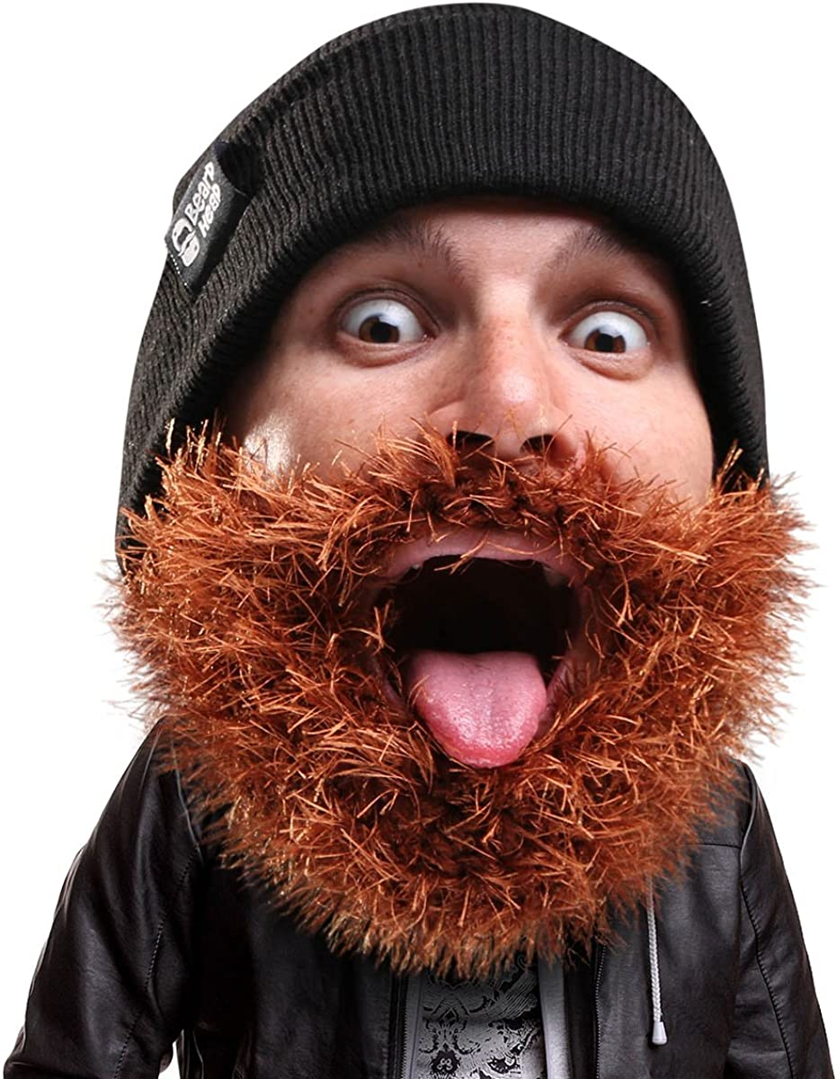 Beard Ranking TOP19 All items in the store Head Bushy Biker Beanie - and Knit Funny Hat Be Fake