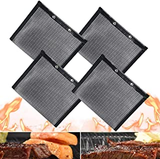 GiWuh Non Stick BBQ Mesh Grill Bags 4 Pcs, High Temperature Resistance Barbecue Bags for Outdoor Picnic Cooking Barbecue, ...