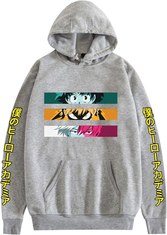 My Hero Academia Sudadera con capucha Sudadera de anime Bakugou Todoroki Shoto Cosplay No Hero Academia Pullover High School Gym Traje de entrenamiento 2D Impreso Abrigo de para adultos unisex