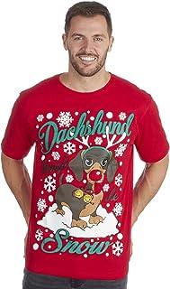 Metzuyan Men Novelty Slogan Funny Christmas Xmas Top Tshirt Joke Rude Tee Plus Size S-5XL