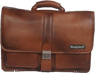 BAG JACK - Deneb Most Eye-catching | Handcrafted | Natural Grain Leather | Black Color | Men Office Bag | Leather Laptop B...