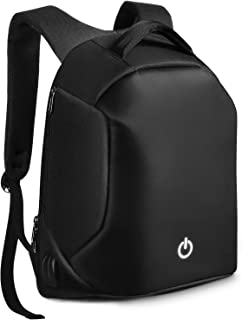 Anti-theft Laptop Backpack, Unisex College School Bag with USB Charging Port