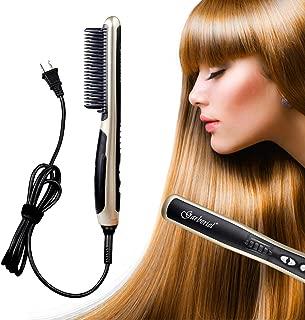 HeCloud Safety Ceramic Hair Straightener Brush Hair straightener Comb 110V 33W