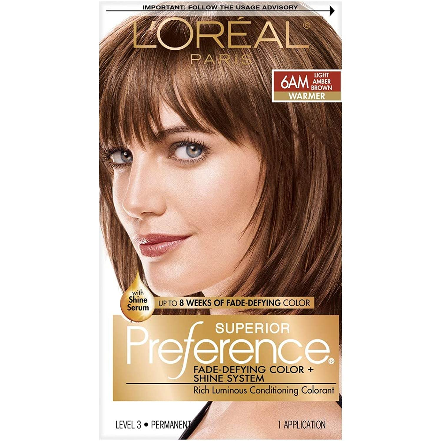 L'Oreal Superior Preference - 6AM Light Amber Brown (Warmer) 1 Each (Pack of 8)