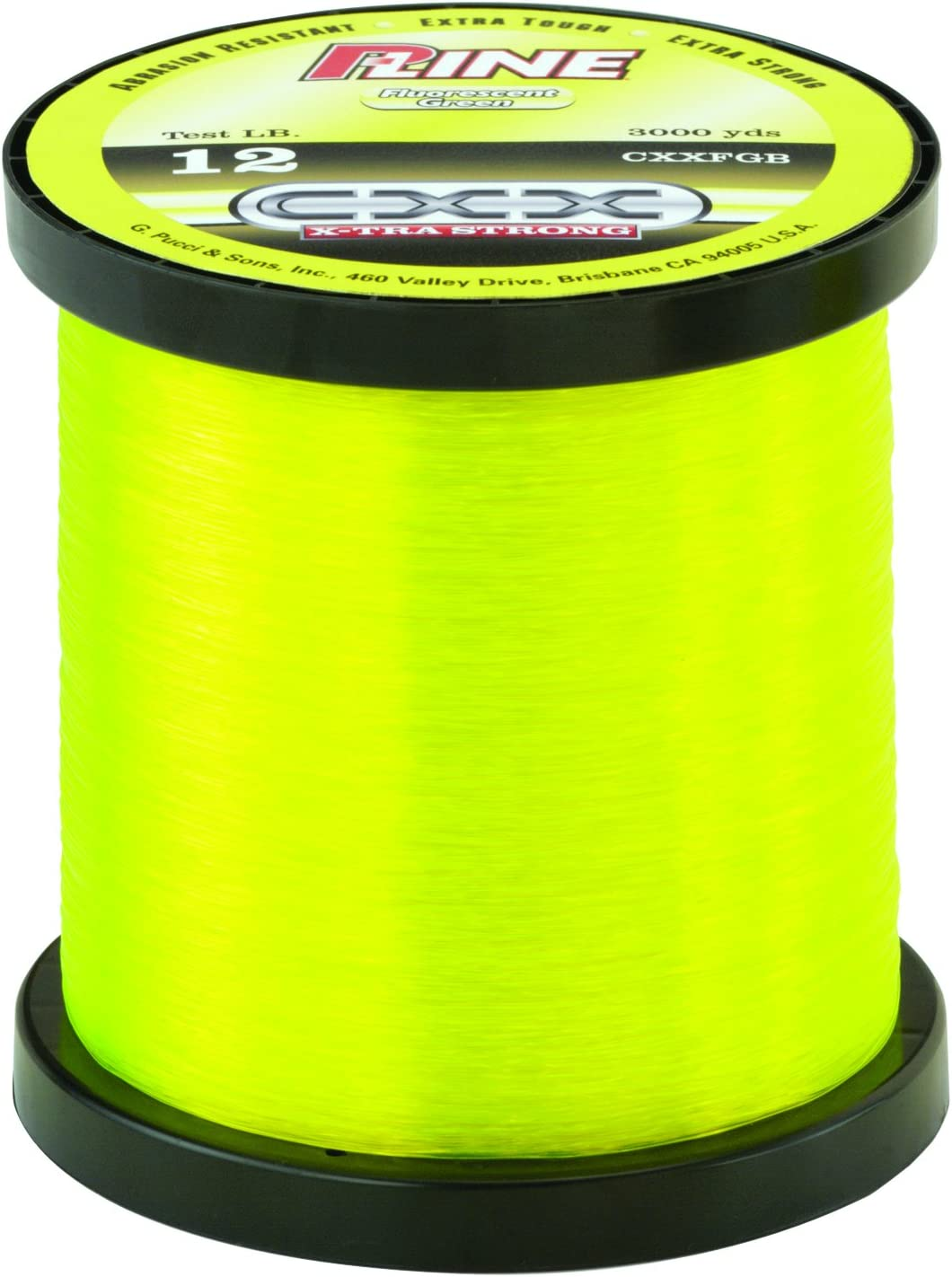 P-Line CXX Fluorescent Green X-Tra Strong Co-Polymer Fishing Line 370-600 Yards