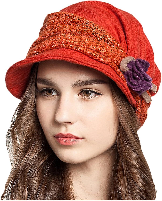 Maitose Trade; Women's Decorative Flowers Wool Beret