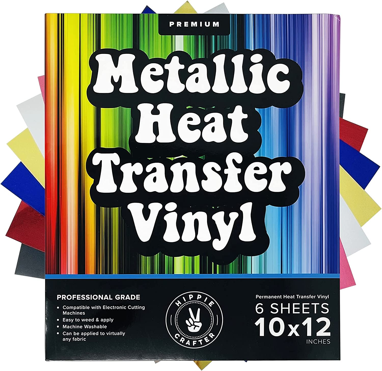 Metallic Heat Transfer Vinyl Sheets Adhesive Foil Permanent HTV Popular shop is the lowest price challenge sold out