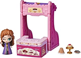 Disney Frozen 2 Twirlabouts Series 1 Anna Sled to Shop Playset, Includes Anna Doll and Accessories, Toy for Kids 3 and Up