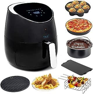 Yedi Houseware Total Package Air Fryer, 5.8 Quart, Black