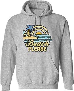 CCANE7 Men's Sudadera con Capucha Personalizada Beach-Please-Sunset Divertido gráfico Sudadera con Capucha