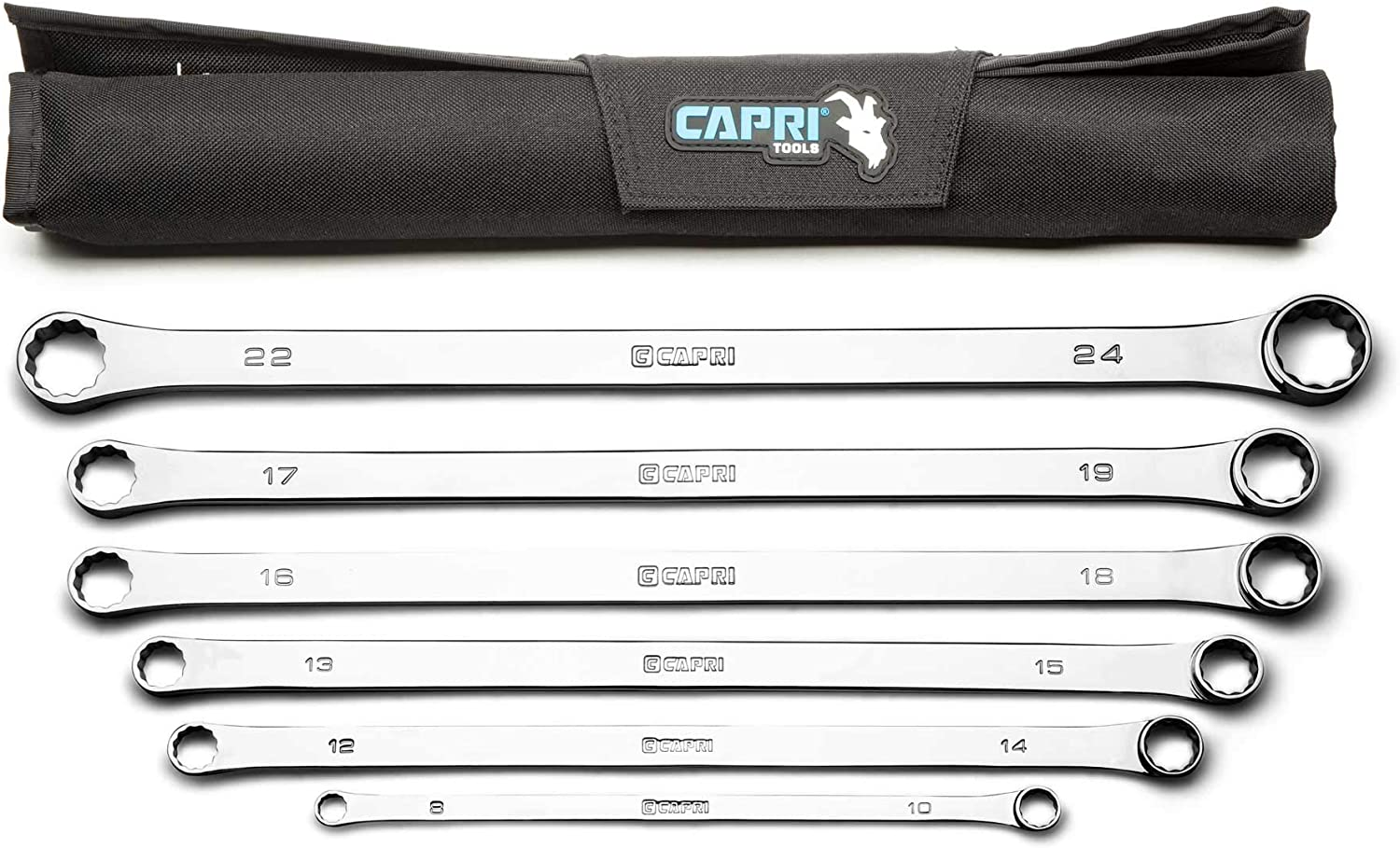Capri Tools 0 Degree Offset Extra Set Online limited product Long Box 6-Pie 25% OFF Wrench End
