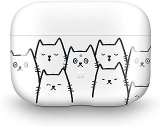【Casestudi】AirPods Pro ケース カバー ハード 製 ハードケース ワイヤレス充電 対応 耐衝撃 特製ポーチ 付 収納ケース 防水 防塵 キズ防止 ガラス光沢 おしゃれ デザイン [ エアーポッズ プロ / MWP22J/A ] (White Cat)