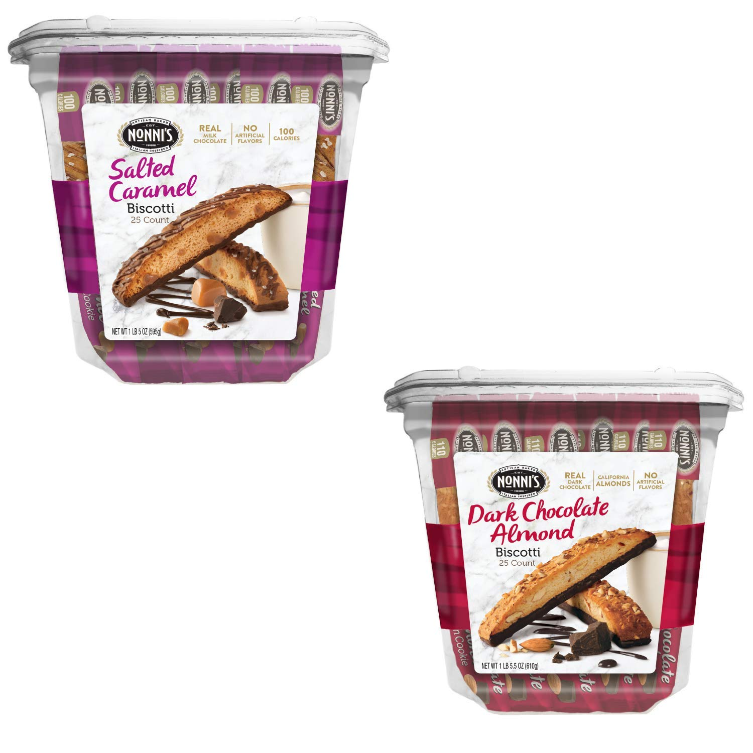 Nonni's Biscotti 25 Count Tub Value Individually Wrapped Tampa Mall low-pricing Pack