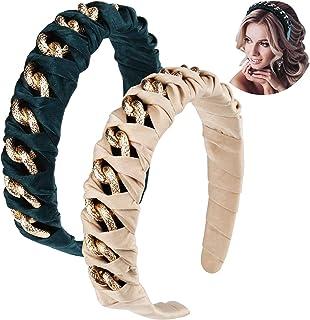 Hapdoo Twist Headbands Knot Headbands, Green Headbands for Women, Fashion Metal Headbands for Women, Girls Cute Headbands ...