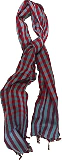 وشاح منقوش ملون مصنوع يدويًا من القطن الناعم للغاية مع أطراف مهدبة وسط 29x67 إكسسوار عصري للنساء والرجال للجنسين