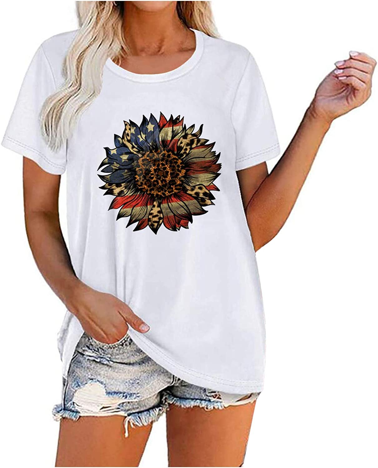 Low price Women Freedom Shirts American Flag New item of 4th Patriotic July