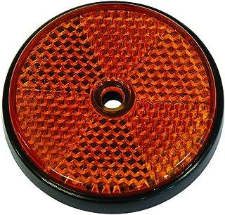 Almencla 2x Rojo Reflector de Advertencia de Seguridad para Auto//Reflector Catadioptrico Trasero para Moto