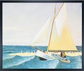 overstockArt Edward Hopper The Martha McKean of Wellfleet 20-Inch by 24-Inch Framed Oil on Canvas