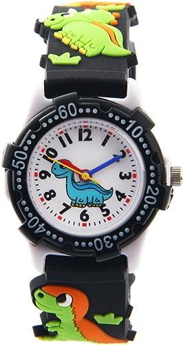 ele ELEOPTION Reloj para Niños Lmpermeable 3D Lindo de Dibujos Animados Redondo de Silicona Banda de Goma Reloj Pulse...