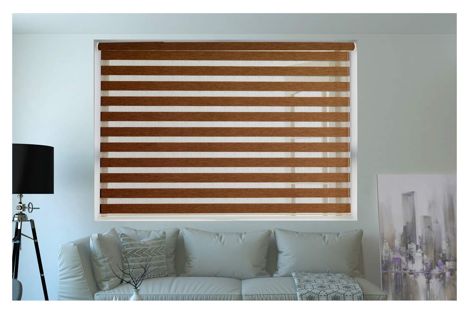 Buy ZEBRA BLINDS Wooden Blinds for Windows or Outdoor Decor of The Home  (Brown) Online at Low Prices in India - Amazon.in