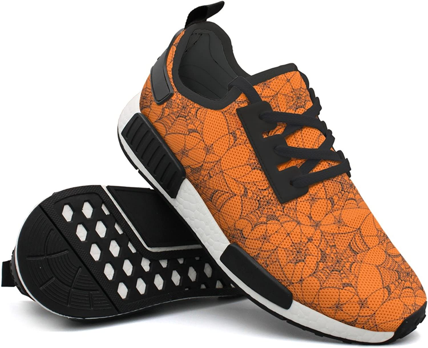 Spider Web On orange Women's Gift Hunting Sports Running shoes New Man's